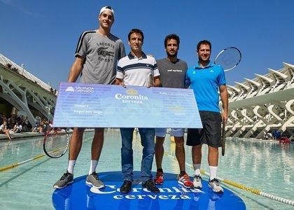 Tommy Robredo, ganador del saque más largo de 'Coronita' en el Valencia Open