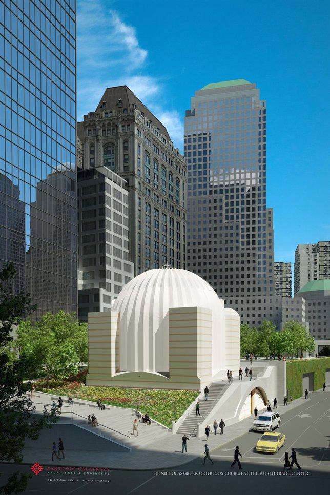 Iglesia de San Nicolás, en Nueva York, proyecto de Santiago Calatrava