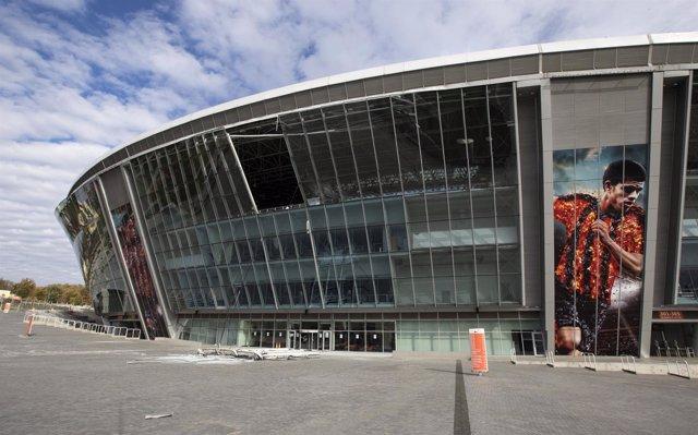 El estadio Donbass Arena afectado por la guerra en Ucrania