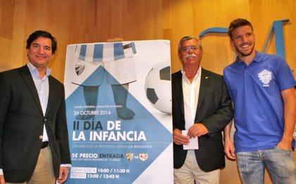 La Diputación y el Málaga CF llevarán a miles de niños de la provincia al partido contra el Rayo Vallecano
