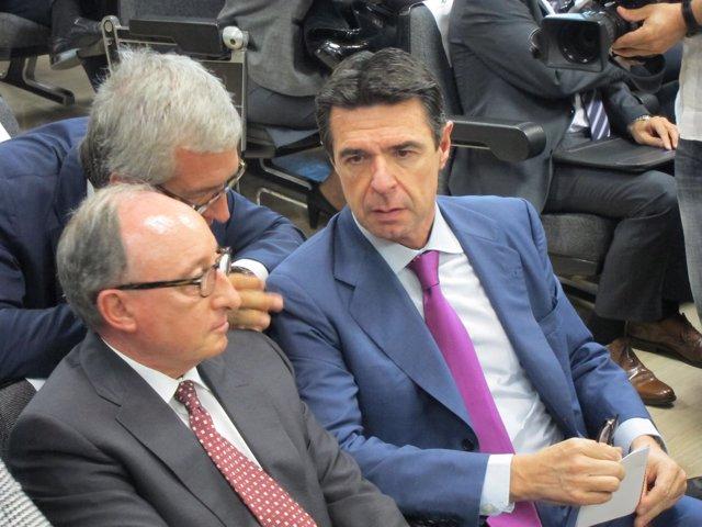 Ministro J.M.Soria,J.F.Ballesteros (alcalde)J.Loma-Ossorio(ChemMed)
