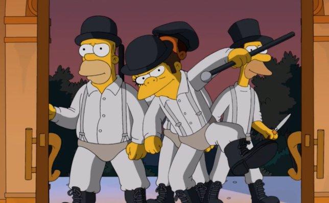 Los Simpson parodian La naranja mecánica