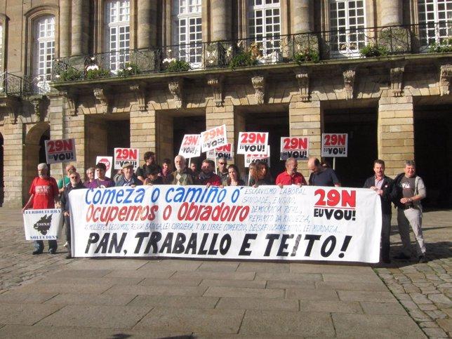 Las Marchas de la Dignidad presentan en el Obradoiro la protesta del 29-N