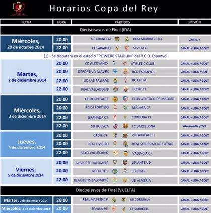 El Real Madrid visitará al Cornellà el 29 de octubre a las 20 horas