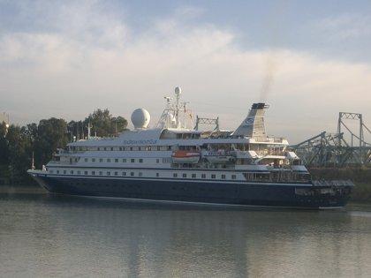 El crucero SeaDream II atraca el viernes en Sevilla con más de un centenar de pasajeros