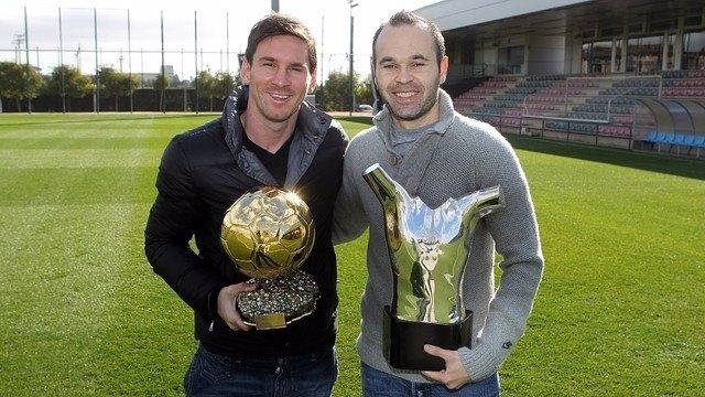 Leo Messi y Andrés Iniesta (FC Barcelona)