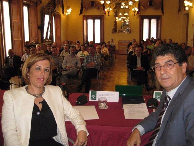 Ferrer y Valderas, durante el balance realizado en Almería