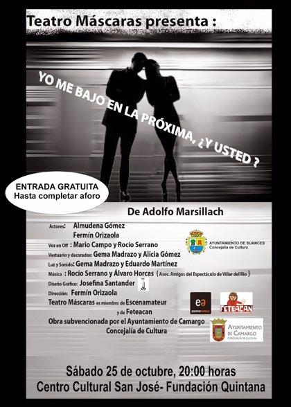 Suances.- El centro cultural San José acoge este sábado una nueva sesión de 'Tardes de Teatro'