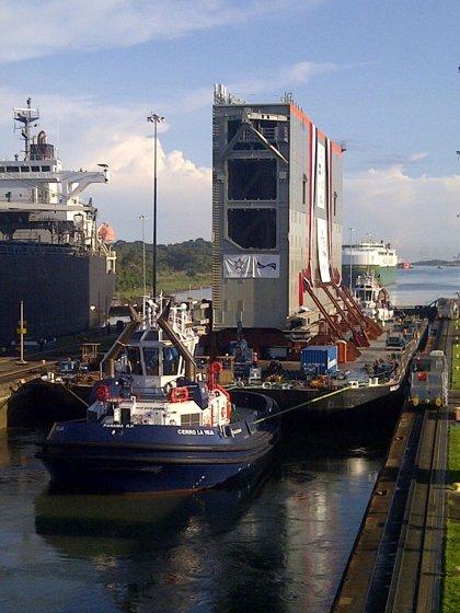 Sacyr concluirá el traslado a Panamá de las compuertas del Canal con antelación a la fecha prevista