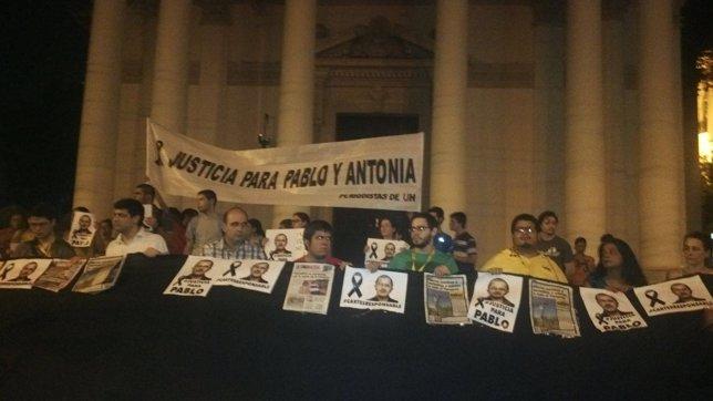 Manifestaciones para pedir la investigación del asesinato de Pablo Medina