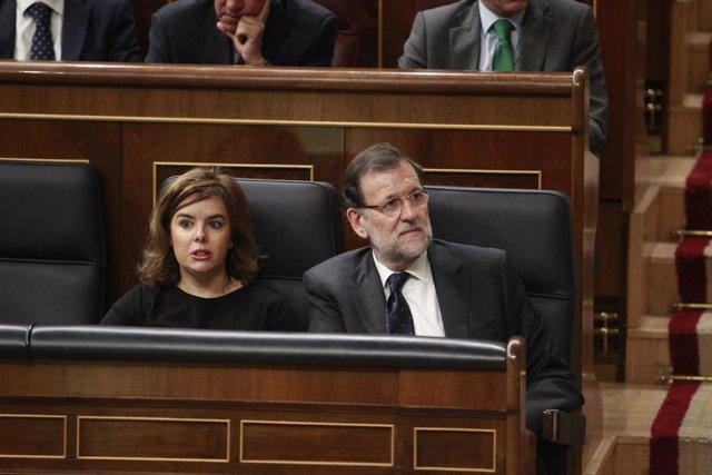 Santamaría y Mariano Rajoy