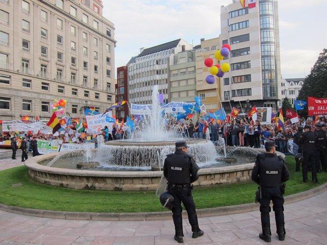 Protestas ante los Premios Príncipe.