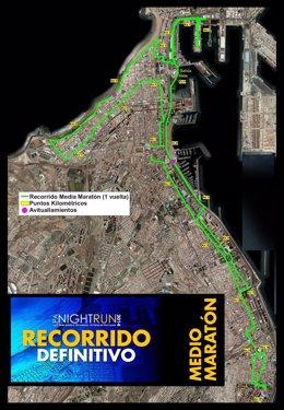 Recorrido LPA Night Run