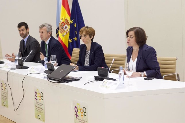 El vicepresidente de la Xunta, Alfonso Rueda, en la inauguración