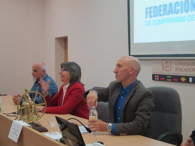 Conselleira de Medio Rural y presidente de la Federación Galega de Cofradías