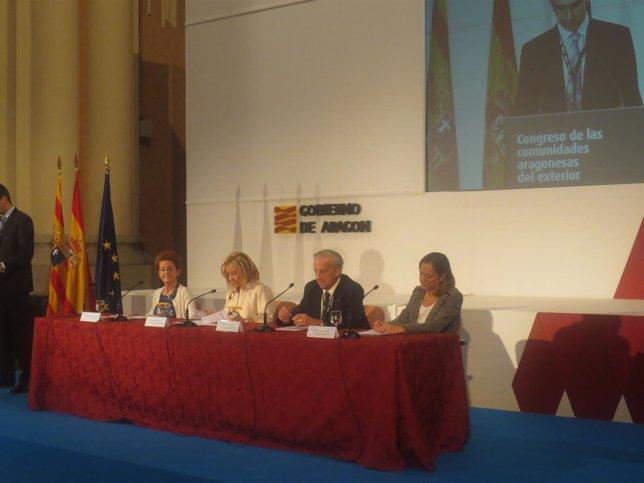 Clausura del Congreso de las Comunidades Aragonesas en el Exterior.
