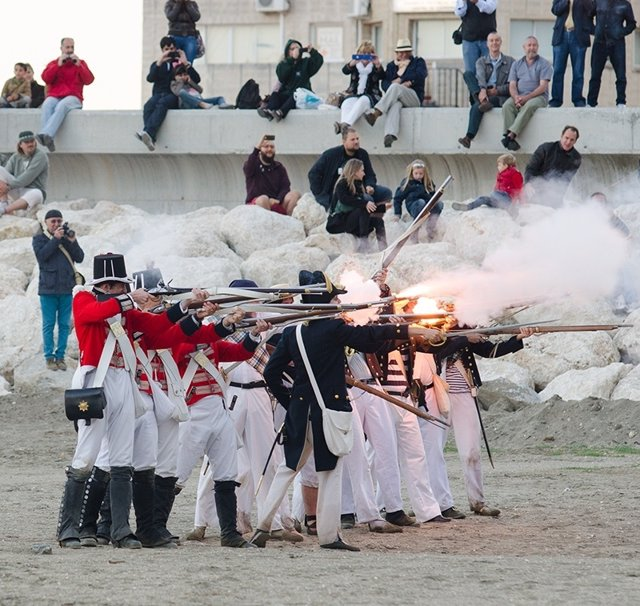 Recreación del desembarco británico de 1812 en Málaga Asociación Teodoro Reding