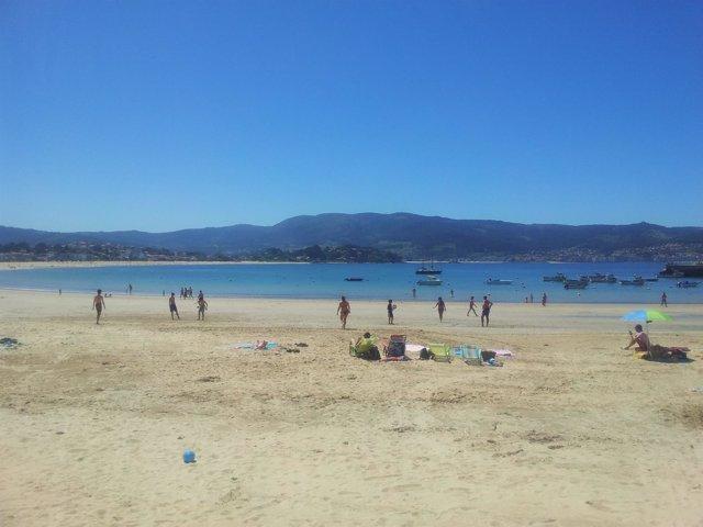 Playa América, Nigrán Pontevedra. Buen tiempo puente de mayo