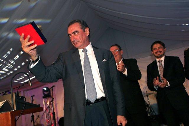 Carlos Herrera tras recoger el galardón