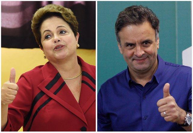 Dilma Rousseff y Aecio Neves