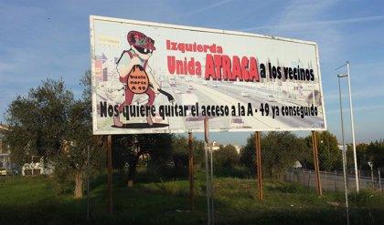 """Espartinas inicia campaña contra IU por """"el flaco favor"""" que hace a vecinos con su postura sobre enlace de A-49"""