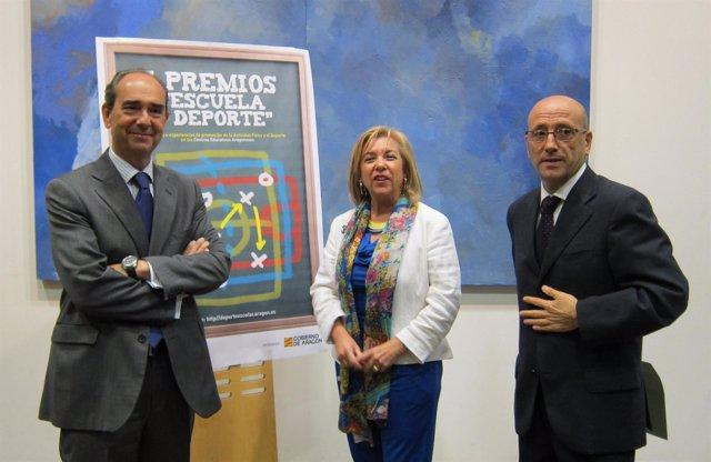 Presentación de los I Premios 'Escuela y Deporte', de Ibercaja y DGA