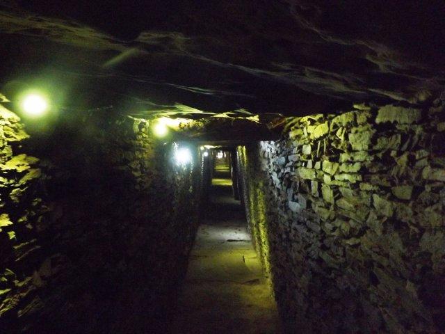 INterior del dolmen de la Pastora.
