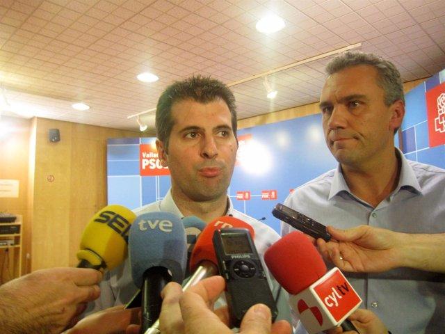 Tudanca (izda) junto a Javier Izquierdo.