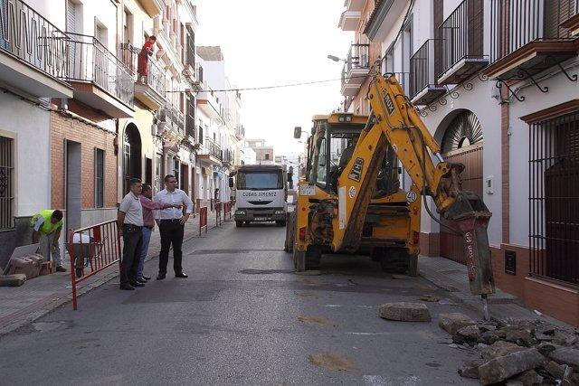 Obras en la Calle Jesús del Gran Poder de Los Palacios