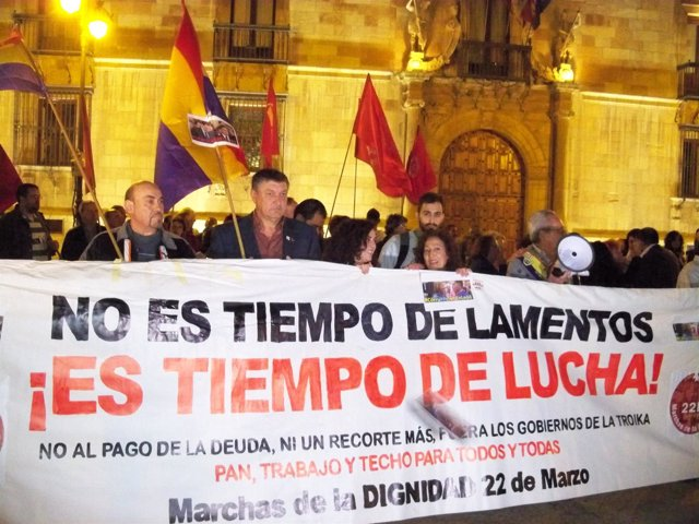 Concentración contra la corrupción en León