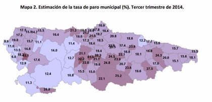 Mieres y Langreo registran las mayores tasas de paro en Asturias por municipios