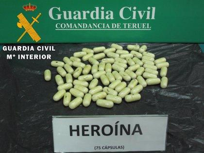 """Detenido un """"mulero"""" con 600 gramos de heroína en Mosqueruela"""