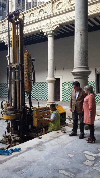 Comienzan las pruebas geotécnicas para la remodelación del Palacio de los Luna