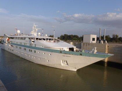 El crucero 'Tere Moana' vuelve a hacer escala este jueves en la capital con un centenar de pasajeros