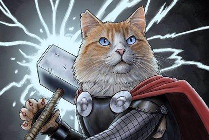 Los superhéroes de Marvel... ¡convertidos en gatos!
