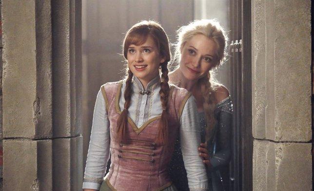 Elsa y Anna (Frozen) se reúnen en Once Upon A Time