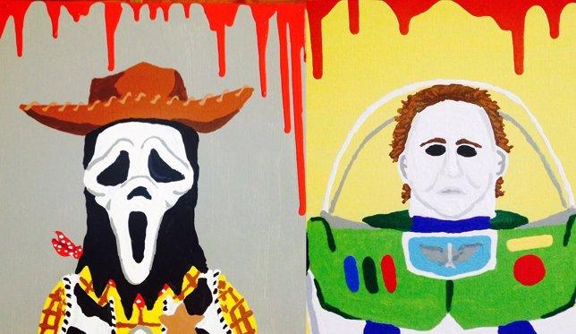 Buzz y Woody en Halloween