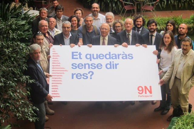 Entidades presentan una campaña de movilización para el 9N