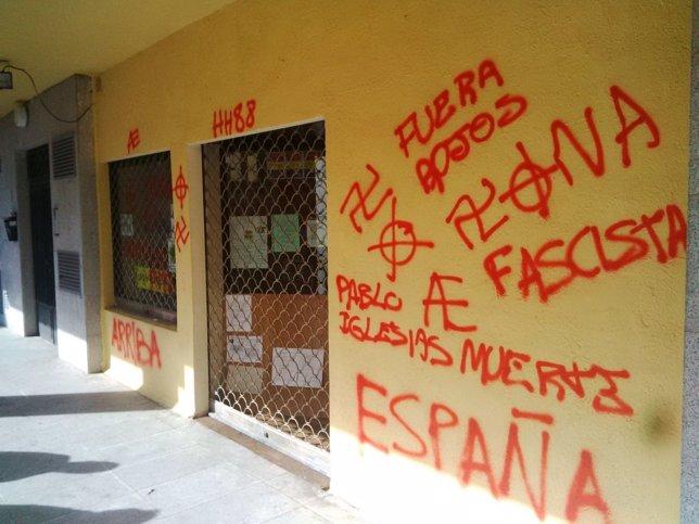 Fachada del edificio donde se reúne el Círculo Podemos Escoriales