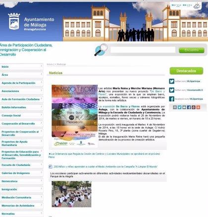Los malagueños podrán opinar a través de la web del Ayuntamiento sobre los proyectos de la ciudad