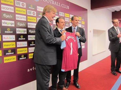 Turismo.- Andalucía se promociona en Birmingham con el Aston Villa FC y busca aprovechar el nicho de mercado del fútbol