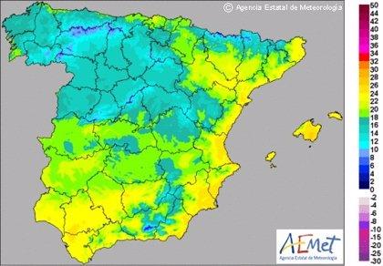 La Comunitat Valenciana comenzará la semana con cielos poco nubosos y máximas de 25 grados en el litoral