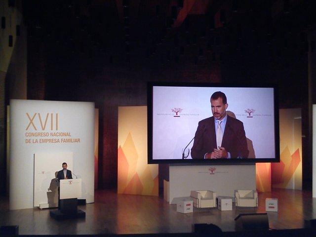 El rey en su intervención ante el pleno del Congreso de Empresa Familiar