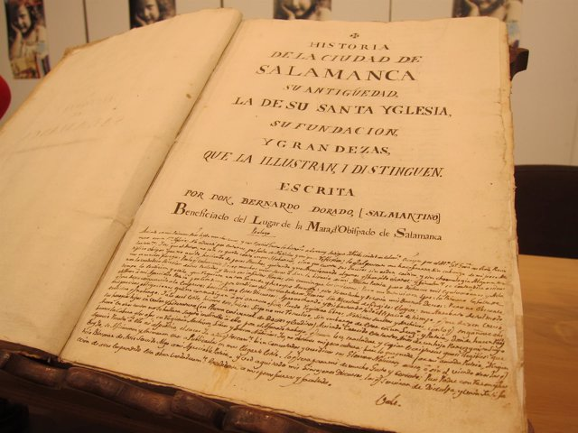 Documento manuscrito de Bernardo Dorado del siglo XVIII