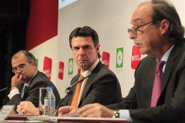 José Alberto González-Ruiz, José Manuel Soria y Ángel Ron