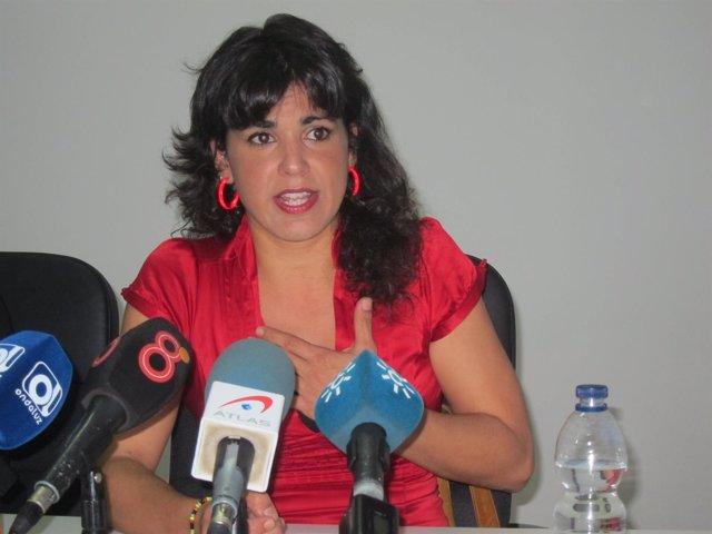 Teresa Rodríguez en rueda de prensa