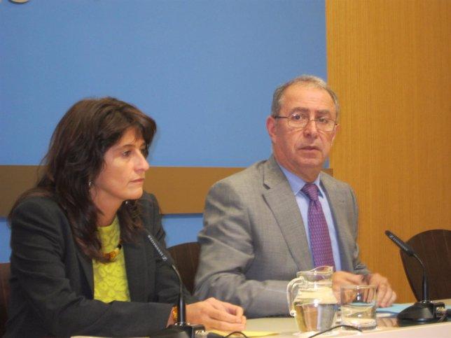 El vicealcalde, Fernando Gimeno, y la consejera municipal Carmen Dueso