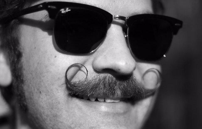 Bigote para apoyar el movimiento 'Movember'