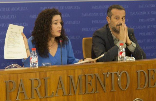 Inmaculada Nieto y José Antonio Castro hoy en rueda de prensa