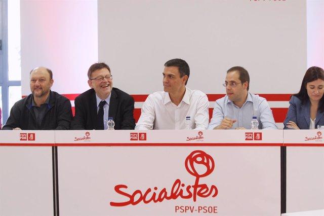 Pedro Sánchez reúne a su Ejecutiva Federal en Valencia